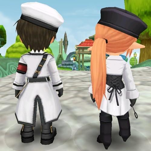 หลัง ตัวอย่างชุดเซ็ททหารขาว